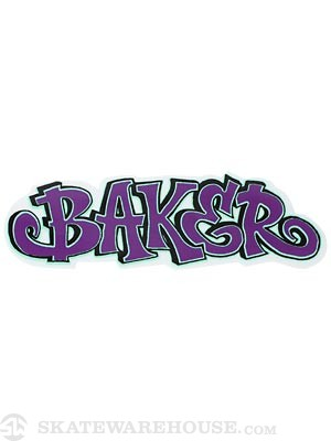 Baker Fatcap Sticker Purple