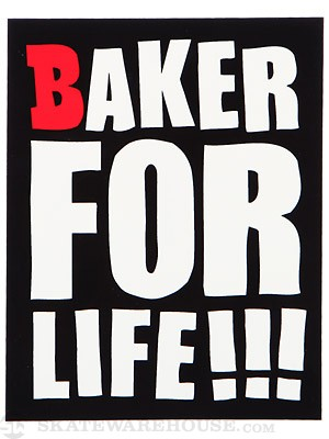 Baker For Life Sticker