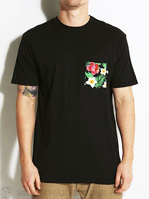 Baker Floral Pocket Tee Black XL