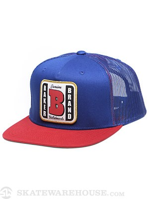 Baker Genuine Patch Trucker Hat Royal Adj.