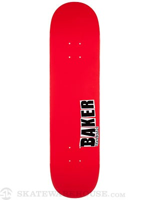 Baker Jbone Red/Black Deck  8.0 x 31.75