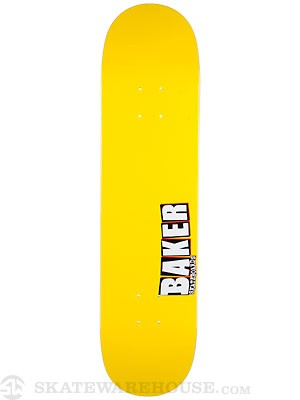 Baker Jbone Yellow/White Deck  7.75 x 31