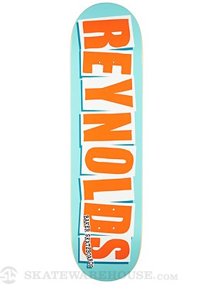 Baker Reynolds Logo Teal/Orange Deck  8.125 x 32.25