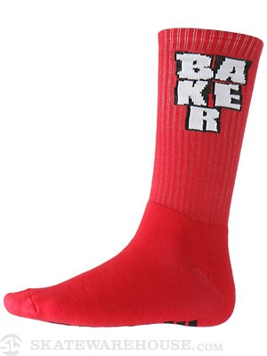 Baker Stacked Socks Red