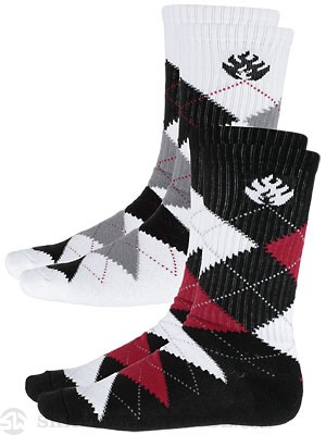 Black Label Argyle Socks 2 Pack Assorted