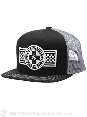 Black Label Emergency Banner Hat Black/Grey