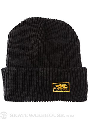 Black Label Elephant Beanie Black