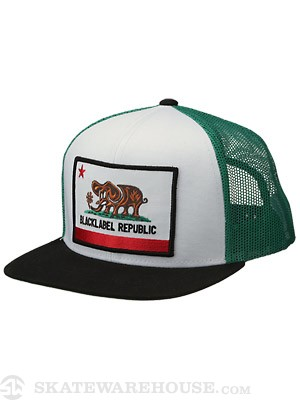 Black Label Republic Mesh Hat White/Green