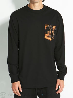 Bohnam Forage Longsleeve Pocket Tee Black LG
