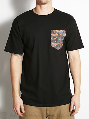 Bohnam Fox Pocket Tee Black XL