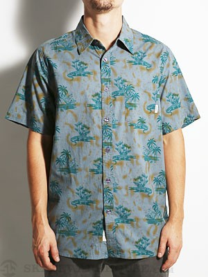 Bohnam Grove Woven S/S Shirt Teal MD