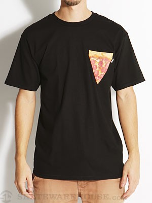 Bohnam Pizza Custom Pocket Tee Black MD