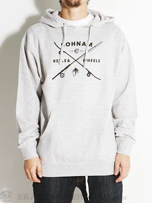 Bohnam Reels & Wheels Hoodie Heather Grey SM
