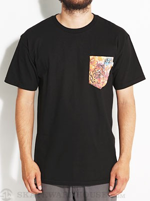 Bohnam Space Animals Pocket Tee Black MD