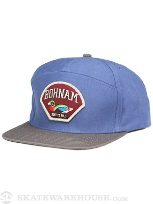 Bohnam Trapper 7 Panel Hybrid Hat Navy Adj.