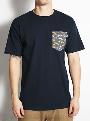 Bohnam Treble Pocket Tee Navy XXL