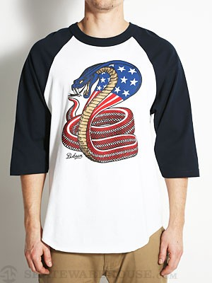 Venom 3/4 Sleeve Baseball Tee Navy/White MD