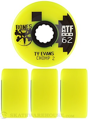 Bones ATF Evans Chomped II Yellow Wheels