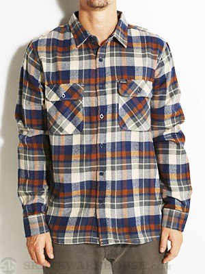 Brixton Archie Flannel Shirt Blue/Cream SM
