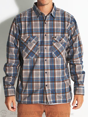 Brixton Archie Flannel Cream/Blue Plaid SM