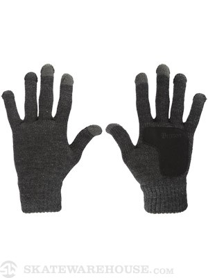 Brixton Butcher II Gloves  Heather Charcoal