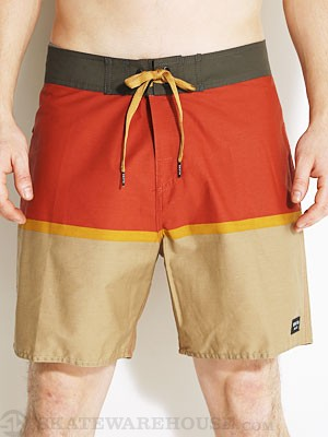 Brixton Beacon Boardshorts Charcoal/Rust 28