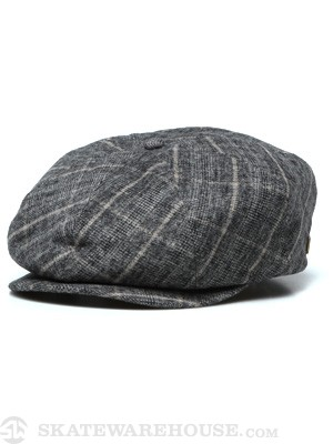 Brixton Brood Hat Black/Cream Plaid MD