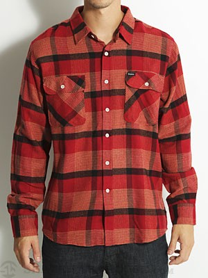 Brixton Bowery Custom Flannel Red MD