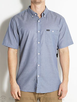 Brixton Central S/S Woven Shirt Blue SM