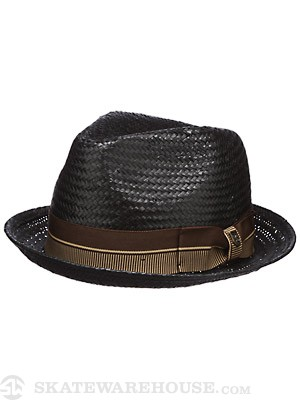Brixton Castor Fedora Hat Black/Brown MD