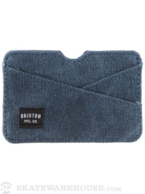 Brixton Crass Card Wallet Navy