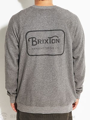 Brixton Coda Crew Sweatshirt Heather Grey LG