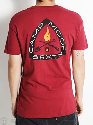 Brixton Camp Mode Premium Tee Burgundy MD