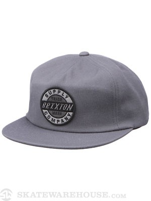 Brixton Council Hat Grey Adjust