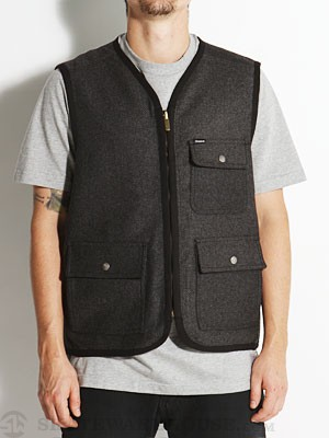 Brixton Collison Reversible Vest Charcoal MD