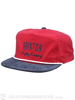 Brixton Carbon Hat Burgundy/Navy Adj.
