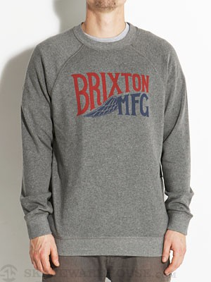 Brixton Coventry Crew Sweatshirt Heather Grey SM
