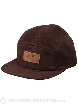 Brixton Cavern 5 Panel Hat Brown Adj.