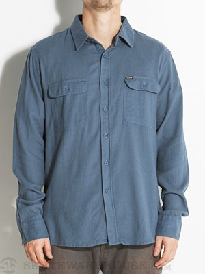 Brixton Donez L/S Flannel Steel Blue MD
