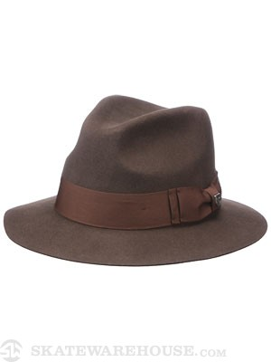 Brixton Diego Fedora Hat Brown MD