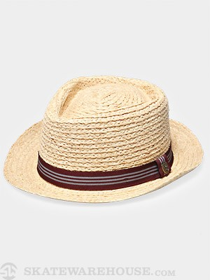 Brixton Delta Fedora Hat Tan Straw MD