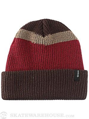 Brixton Ernie Beanie Brown/Burgundy