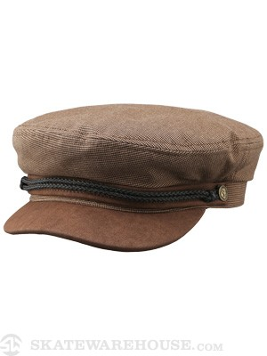 Brixton Fiddler Cap Hat Brown 2 MD
