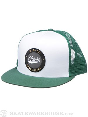 Brixton Flask Hat White/Green Adj.