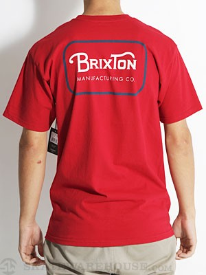 Brixton Freeman Tee Red MD