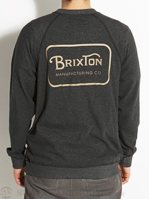 Brixton Grade Crew Sweatshirt Heather Black MD