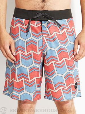 Brixton Generator Boardshorts Blue/Red 28
