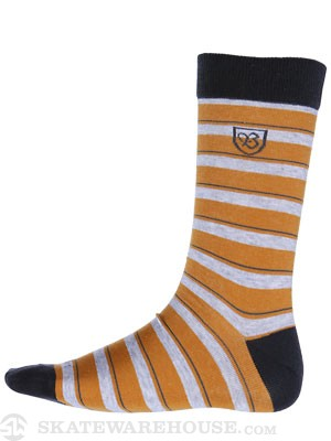 Brixton Gordon Socks Mustard
