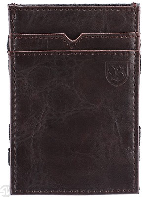Brixton Guild Flip Wallet Brown