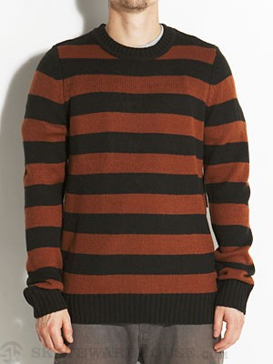 Brixton Gully Sweater Black/Brown LG